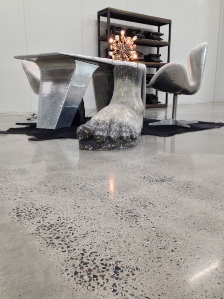 Aggregate Exposed Smooth Stone Polished Concrete