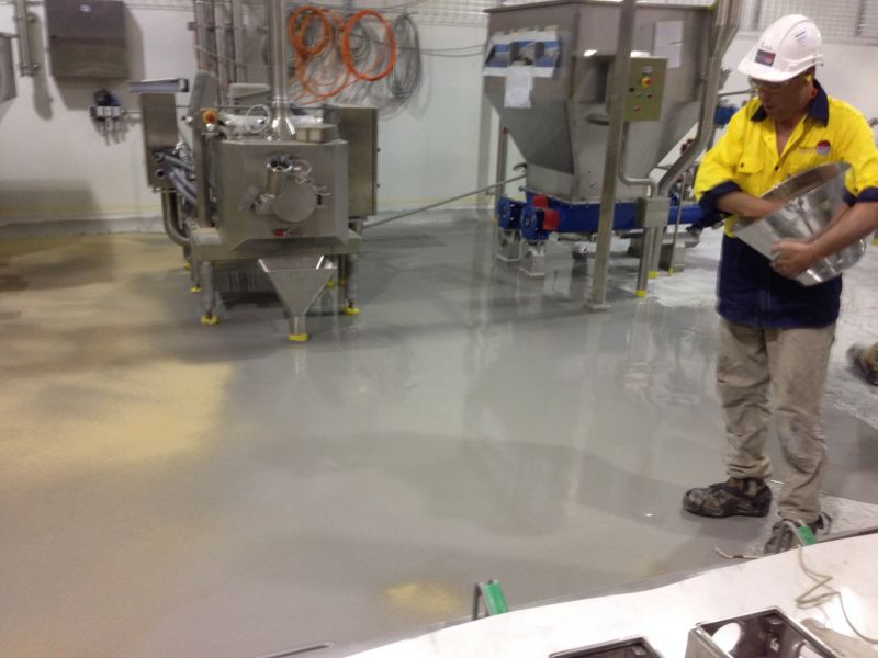 Food Flooring Purcem Install
